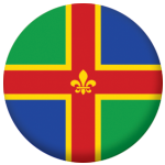 Lincolnshire County Flag 58mm Button Badge
